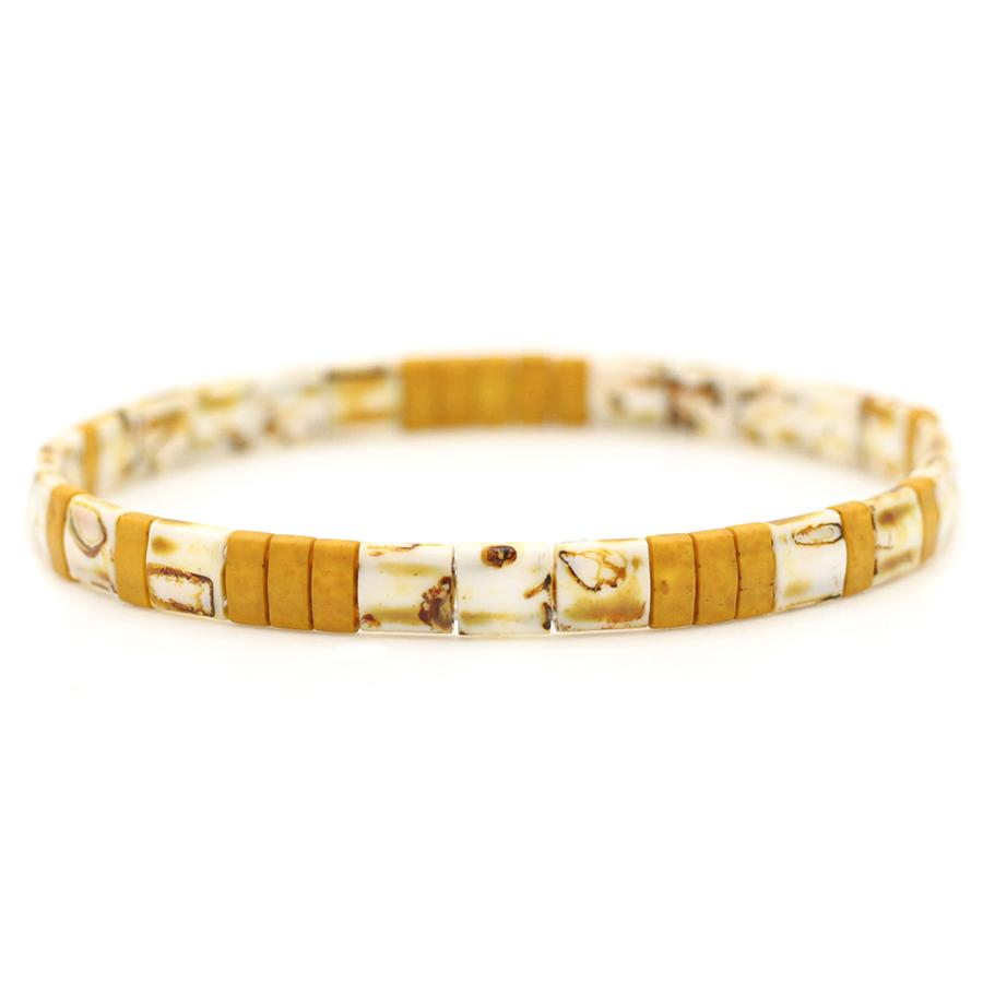 bracelet perles plates