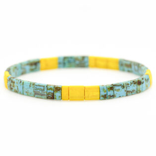 bracelet perles plates tila