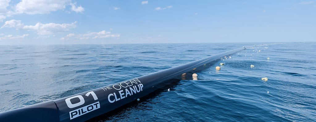 clean ocean with the ocean cleanup