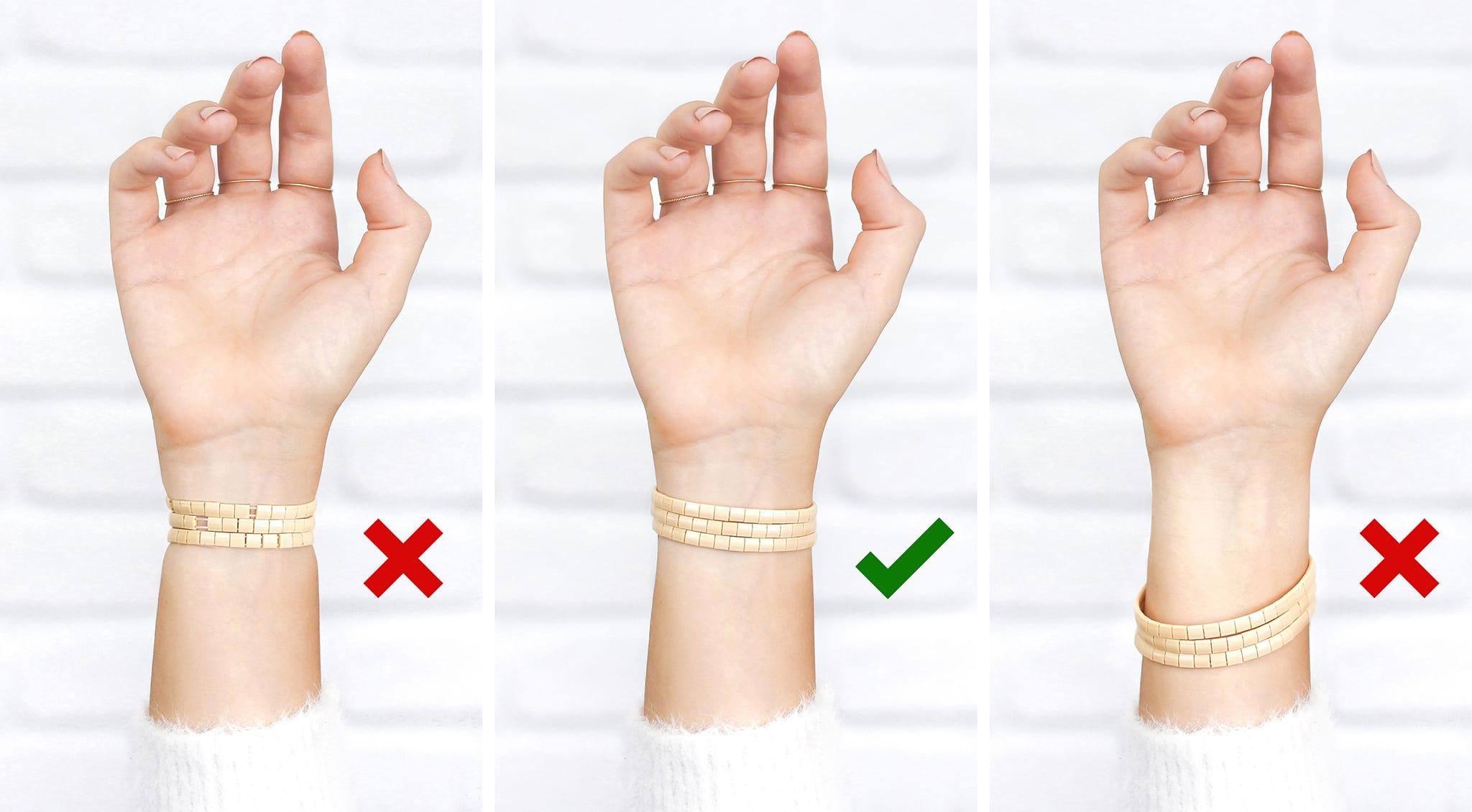 taille bracelet